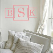 Personalized Three Square Monogram Wall Decal