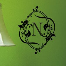 <strong>Alphabet Garden Designs</strong> Berry Monogram Wall Decal