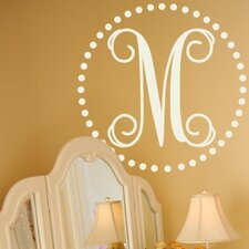 <strong>Alphabet Garden Designs</strong> Fancy Dot Monogram Wall Decal