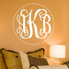 <strong>Alphabet Garden Designs</strong> Fancy Dot Interlock Monogram Wall Decal