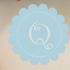 Curlz Dotted Scalloped Monogram Wall Decal