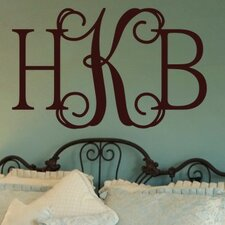 <strong>Alphabet Garden Designs</strong> Hip Chick Monogram Wall Decal