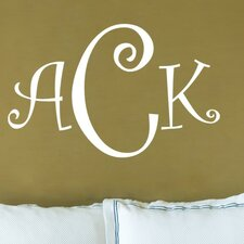<strong>Alphabet Garden Designs</strong> Curly Font Monogram Wall Decal