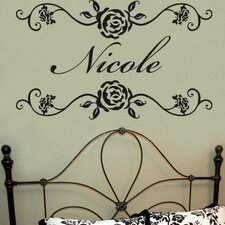 <strong>Alphabet Garden Designs</strong> Rosevine Monogram Wall Decal