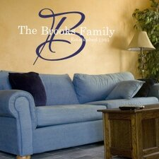 Signature Family Monogram Wall Decal