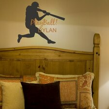 <strong>Alphabet Garden Designs</strong> Play Ball Personalized Wall Decal