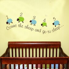 <strong>Alphabet Garden Designs</strong> Counting Sheep Wall Decal