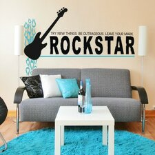 <strong>Alphabet Garden Designs</strong> Rock Star-Leave Your Mark Wall Decal