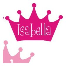 Personalized Princess Crown with Name Insert Wall Decal