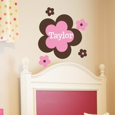 Personalized Flower Power Wall Decal