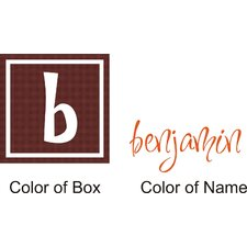 <strong>Alphabet Garden Designs</strong> Benjamin's Box Wall Decal