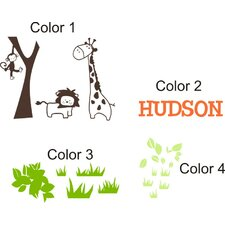 <strong>Alphabet Garden Designs</strong> It's a Jungle Out There Wall Decal