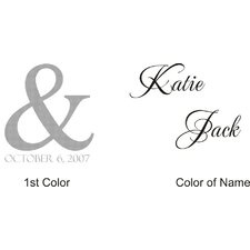 Katie and Jack Monogram Wall Decal