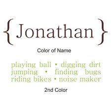 Personalized Boy / Girl Definition Wall Decal
