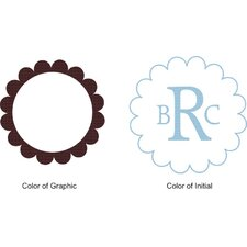 <strong>Alphabet Garden Designs</strong> Scalloped Edge Monogram Wall Decal