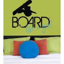 Board Like a Girl Wall Decal