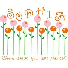 <strong>Alphabet Garden Designs</strong> Candy Flowers Wall Decal