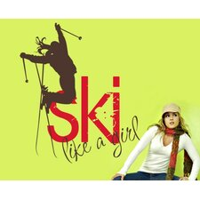 Ski Like a Girl Wall Decal
