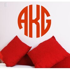 <strong>Alphabet Garden Designs</strong> Circle Monogram Wall Decal