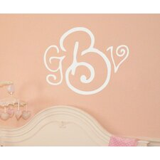 Curly Whirly Monogram Wall Decal