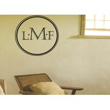 Engraved Monogram Wall Decal