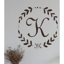 French Vine Monogram Wall Decal