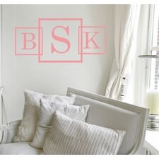Three Square Monogram Wall Decal