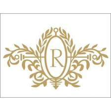 Royal Elegance Monogram Wall Decal