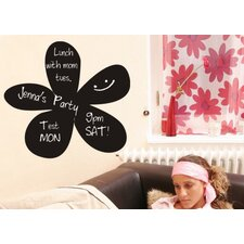 Flower Chalkboard Vinyl Wall Decal
