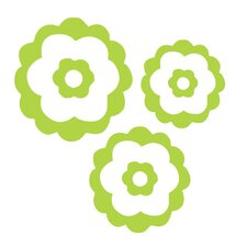<strong>Alphabet Garden Designs</strong> Natalie's Flower Set Vinyl Wall Decal (Set of 3)