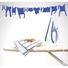 Laundry Line Vinyl Wall Decal