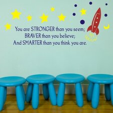 <strong>Alphabet Garden Designs</strong> Stronger. Braver. Smarter Wall Decal