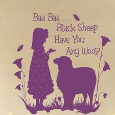 Baa Baa Black Sheep - Girl Wall Decal