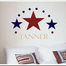 Three Stars Wall Decal