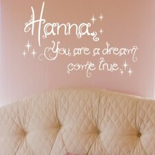 Dream Come True Wall Decal