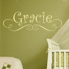 <strong>Alphabet Garden Designs</strong> Gracie's Personalized Wall Decal