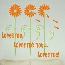 <strong>Alphabet Garden Designs</strong> Loves Me Wall Decal