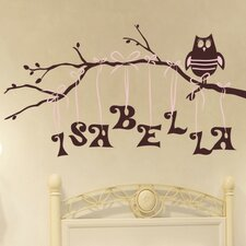 Personalized Owl on Branch Wall Decal