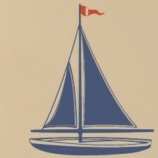 <strong>Alphabet Garden Designs</strong> Sailboat Wall Decal