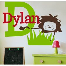 Personalized Dylan's Lion Wall Decal