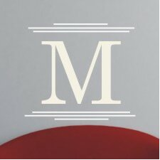 <strong>Alphabet Garden Designs</strong> Majestic Monogram Wall Decal