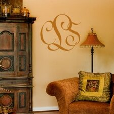 <strong>Alphabet Garden Designs</strong> Entwined Monogram Wall Decal