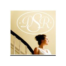 <strong>Alphabet Garden Designs</strong> Oval Monogram Wall Decal