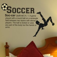 <strong>Alphabet Garden Designs</strong> Soccer Definition Wall Decal