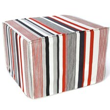 Siggi Stripes Cotton Cube Ottoman