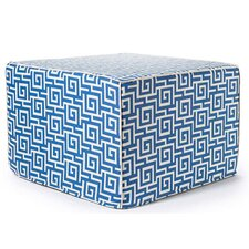 Puzzle Outdoor Ottoman in Blue