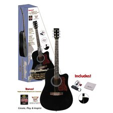 <strong>Ashley Entertainment Corporation</strong> Spectrum Full Size Cutaway Acoustic Guitar