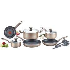 Metallic Bronze 12 Piece Cookware Set