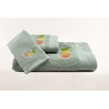 Streetlight Leaves Embroidered 3 Piece Towel Set