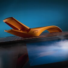 Zoe Pool Lounger in Gloss with Towel